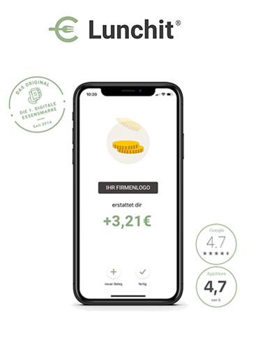 Lunchit - der App-basierte Essenszuschuss, 50% günstiger als Gehalt