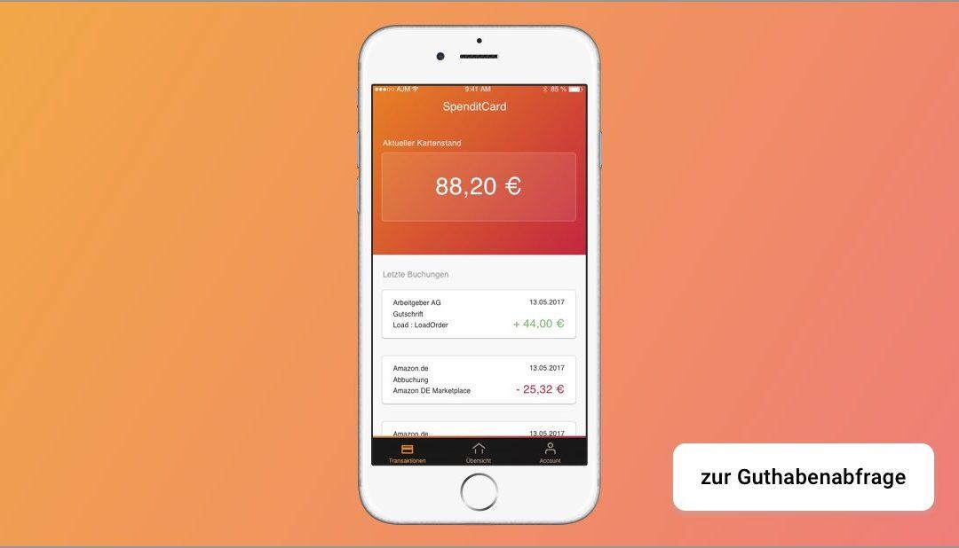 Die SpenditCard App – Guthabenabfrage leicht gemacht!
